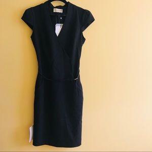M.M. Lafleur black v neck pencil skirt dress